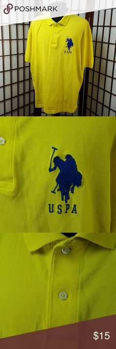 """Yellow  U.S. POLO ASSN. Polo Shirt Size XL Preowned gently worn  Polo Shirt by US POLO ASSN size xl Yellow color, embroidered USA symbol on front and number 3 on the right sleeve . 2 button front  Measurements  Pit to pit 26"""" Shoulder to hem 29"""" U.S. Polo Assn. Shirts Polos"""