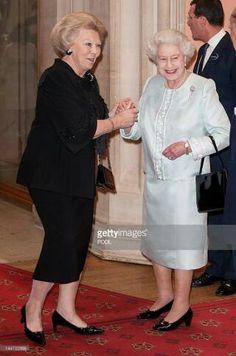 Queen Beatrix of the Netherlands and Queen Elizabeth II 50 years later!
