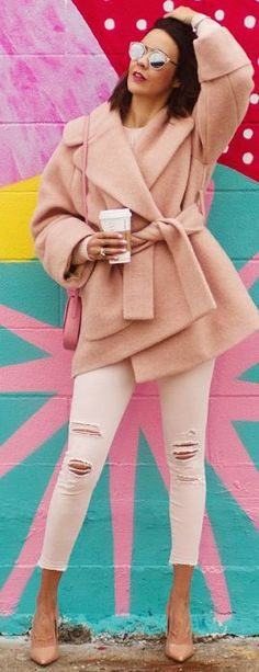 Wear + Where + Well Shades Of Blush Fall Street Style Inspo #Fashionistas
