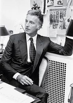Hubert de Givenchy: opened house in 1952, then sold to LVMH in 1988; notes for clothing of exceptional workmanship, masterly cut, and beautiful fabrics. Also known for having designed much of the personal and professional wardrobe of Audrey Hepburn and Jacqueline Kennedy.