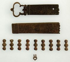 Belts were of great importance as they were a symbol of warrior status. Civilians had no need for belts, but for a warrior it was an essential piece of equipment. From time to time civilians were actually forbidden to wear belts. Among the mamluks, belts were also used to denote rank, with different ranks of emirs (commanders) having different belts. some 13th century bronze belt fittings from Syria, these would be attached to a leather belt.