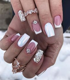 french nails with a twist Braid Tutorials Shellac Nails, Pink Nails, Manicures, Stiletto Nails, Perfect Nails, Gorgeous Nails, Pretty Nails, French Nail Designs, Nail Art Designs