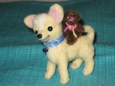 Needle Felted Dog / Chihuahua animated CHA CHI / by GourmetFelted