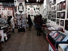 Kind of a different art shop in Portobello Road