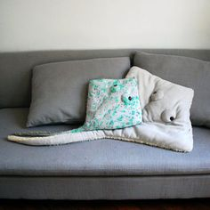 OverSized Handmade Plush- Light Gray Stingray Stuffed Animal // Eco- Friendly // Characteristic pillow or little baby blanket