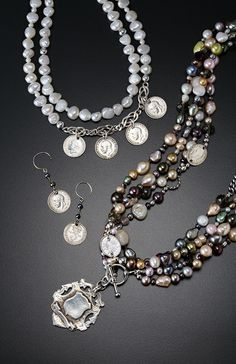 Gorgeous jewelry by Cate Loretto.  Find a full selection at JBS Unique Boutique.  #giftlist