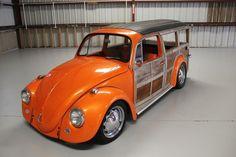 1967 Volkswagen Beetle - Classic  Metallic Orange Woody Wagon on eBay