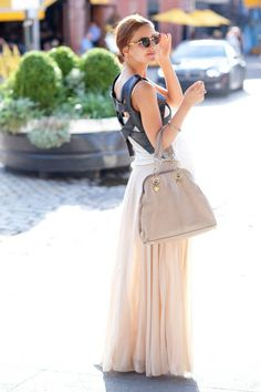 Street Chic    Photo: Shanna Ravindra/Hearst    Name: Aleksandra Sivokoneva  Work:Designer  Vest: Her own  Skirt: Zara  Tank Top: Calvin Klein  Bag: Moschino