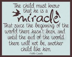 Nursery Art  The child is a miracle  Pablo Casals  door Lexiphilia, $12.00