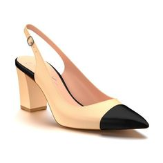Women's Shoes Of Prey Slingback Pump ($190) via Polyvore featuring shoes,  pumps,