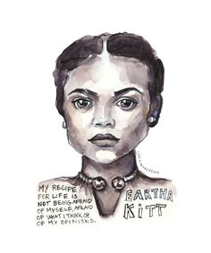 Portfolio — Artist Lydia Makepeace Famous Women Quotes, Black Women Quotes, Eartha Kitt Quotes, Quote Prints, Art Prints, Words Of Comfort, Ink Illustrations, Black History Month, Female Portrait