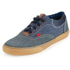 Ben Sherman Stevie Colorblock Low-Top Sneaker (115 BRL) ❤ liked on Polyvore featuring men's fashion, men's shoes, men's sneakers, navy blaze, mens low profile shoes, ben sherman mens shoes, mens flat shoes, mens low profile sneakers and mens navy shoes