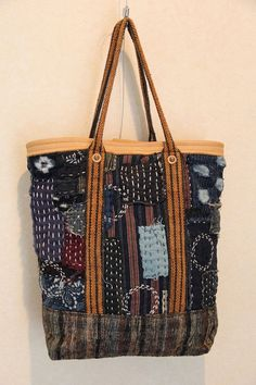 Antike japanische Boro-Tasche von oldindustrial12 auf Etsy