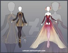 [Close] Design by Lonary on DeviantArt Dress Drawing, Drawing Clothes, Fashion Design Drawings, Fashion Sketches, Anime Outfits, Cool Outfits, Kleidung Design, Anime Dress, Fantasy Dress