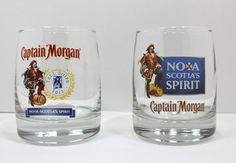 Captain Morgan Rum Lot Of 2 On The Rocks Tall Ships 2012 and Nova Scotia Spirit Captain Morgan Rum, Conversion Van, Tall Ships, Nova Scotia, Shot Glass, Rocks, Spirit, Glasses, Store