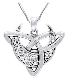 "CGC Sterling Silver Celtic Triquetra Moon Trinity Knot Pendant on 18"" Box Chain Necklace Carolina Glamour Collection http://www.amazon.com/dp/B00V3SDEB0/ref=cm_sw_r_pi_dp_.V4Jvb0HZZPPH"