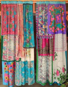 SPRINGTIME IN PARIS Bohemian Gypsy Curtains by BabylonSisters