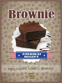 Egy falat amerikai álom egy szuper amerikai recept alapján. Nálunk megtalálod a legtutibb Brownie receptet! Ne habozz.... Készítsd el Te is! 😎 Brownies, Ale, Muffin, Desserts, Food, Cake Brownies, Tailgate Desserts, Deserts, Ale Beer