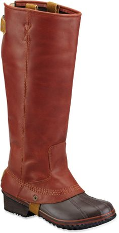 Timeless and waterproof, the Sorel Slimpack Riding rain boots channel the classic style of equestrian boots while keeping your feet dry and warm on stormy days.