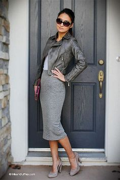 Shades of grey add up to make a super wearable outfit.