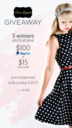 Enter the $500 PayPal CASH #giveaway from @janedeals and #taralynnsboutique this week!