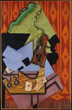 Violin and Playing Cards on a Table / Juan Gris / 1913 / Oil on canvas / The Metropolitan Museum of Art