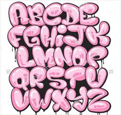 Bubble Letter Graffiti Alphabet