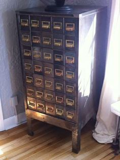 love this!  restored metal card catalog $500
