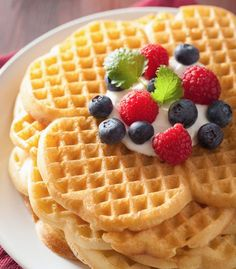 Syn Free Belgian Waffles | Slimming World Recipe | FatGirlSkinny.net - Slimming World Weight Loss Blog