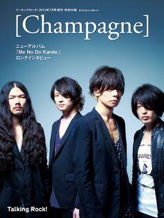 [Champagne]2013/6/15「Talking Rock!」7月号増刊 別冊付録[Champagne] /Talking Rock!のブログ One Ok Rock, Music Bands, Karate, Rock Bands, Singing, Japanese, Dance, Guys, People