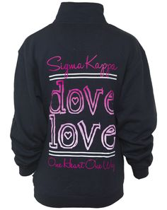 Sigma Kappa Dove Love Half-Zip