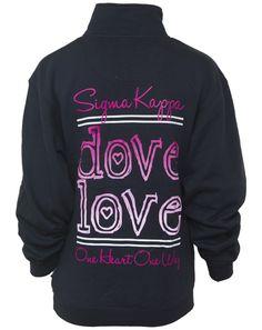 Sigma Kappa Dove Love Half-Zip