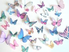30 Edible Butterflies in Assorted - Edible Cake Decorations, Wedding Cake Decorations
