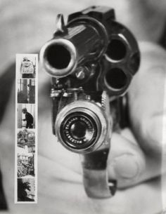 A revolver that takes your photo right before the trigger is pulled