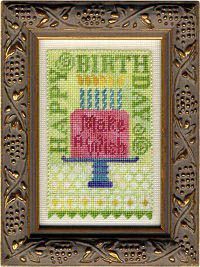 Erica Michaels - Birthday Bits (with fabric) [EMD131384] - $15.00 : Laurels Stitchery, The best little stitchery shop on the internet!