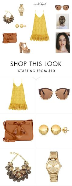 """""""amarillo nat"""" by mxblckprl on Polyvore featuring moda, Alexis, Marni, Kate Spade, Forest of Chintz, MICHAEL Michael Kors, yellow, romantic, nude y amarillo"""