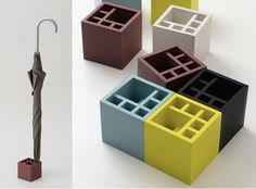 Splash Square Umbrella Stand - We loved the original Splash Mini Umbrella Stand, a way to store your umbrellas in a cool shape that looks like, well, a splash of water. Now comes this follow-up. Despite the name, the Splash Square Umbrella Stand is four-sided but retains the same practical approach to storage and fun approach to ...