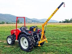 EL200 - Hydraulic Crane 200kg Lift Capacity - For Compact Tractors