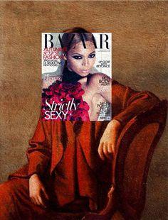 Des couvertures de magazines sur des peintures classiques couverture magazine mode peinture celebre 15
