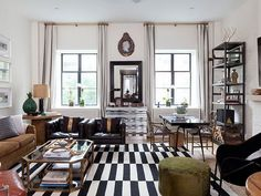 Why I lurve the Ikea Stockholm Rug - Nate Berkus New York Apartment