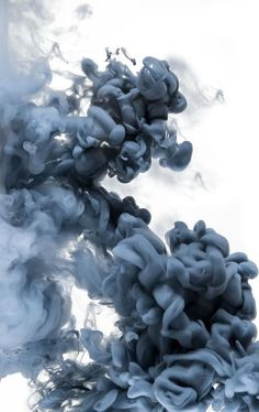 Large Monochrome Art, Huge UNFRAMED Minimal Art, Minimalistic Print with Blue / Gray & White by Jessica Kenyon, Giclee Print Smoke Wallpaper, Phone Screen Wallpaper, Live Wallpaper Iphone, Apple Wallpaper, Wallpaper Backgrounds, Minimal Art, Smoke Background, Ink In Water, Minimalist Wallpaper