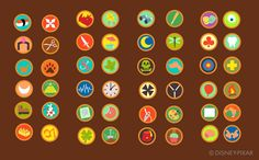 Here's the list of scout badges that were created for Up's Russel. Disney Up, Disney Stuff, Disney 2017, Disney Ideas, Up Costumes, Disney Costumes, Halloween Costumes, Running Costumes, Costume Ideas