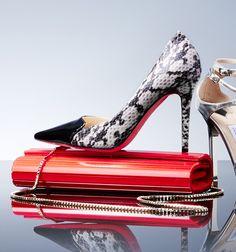 Jimmy Choo shoes and handbag