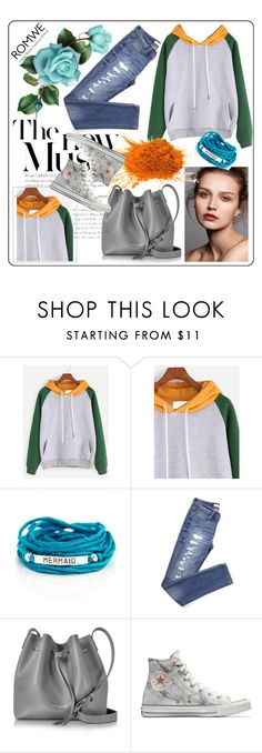 """Untitled #332"" by aazraa ❤ liked on Polyvore featuring Blooming Lotus Jewelry, Lancaster and Converse"