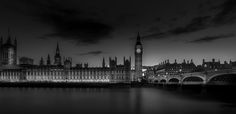 "The Houses of Parliament and Big Ben at night processed in Black and White. You can see more  of my photos at:  <a href=""www.photojohnwright.net"">photojohnwright.net</a>"