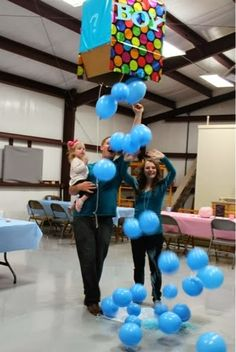 Baby Gender Reveal Party Ideas! So cute. Click the picture to look at more on the blog. #baby #gendereveal #party