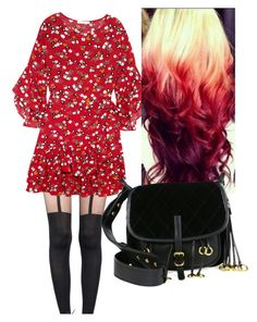 """""""I See Red"""" by rachel-rosalie-idzerda on Polyvore featuring Pretty Polly, Maje and Prada"""