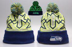 Seattle Seahawks Winter Outdoor Sports Warm Knit Beanie Hat Pom Pom