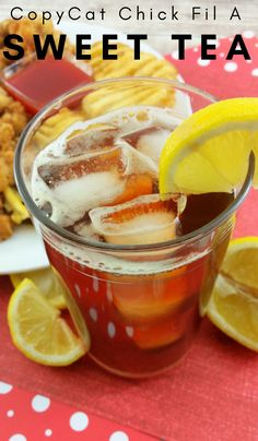 Make your favorite Chick Fil A Sweet Tea right at home with this all-time go-to recipe. You will never need another sweet tea recipe again! #sweettea #chickfila #recipes #drinks #copycaterecipe | Copycat Recipes | Sweet Tea Recipes | Iced Tea Recipes | Drink Recipes | Chick Fil A Recipes | Easy Drinks | Summer Tea Recipes |