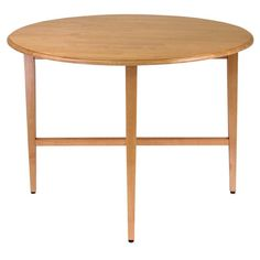 "Winsome Wood 34942 Hannah Round 42"" Double Drop Leaf Gate leg Table"